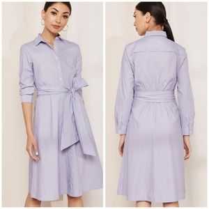 J Crew Chambray Tie Waist Shirt Dress